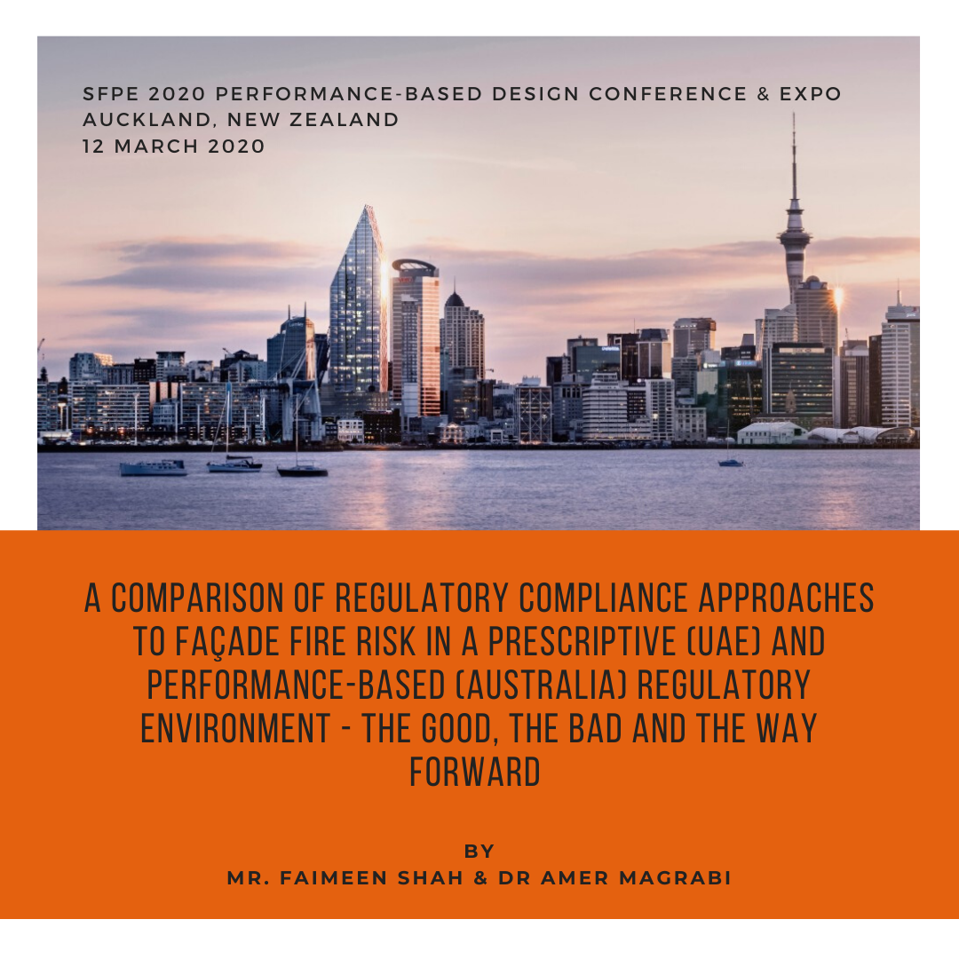 SFPE Conference – Façade fire safety – Comparison between UAE & Australian approaches